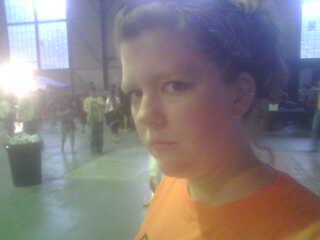 I looked like a pumpkin